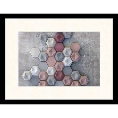 LivCorday Soft Geometry Framed Photographic Print