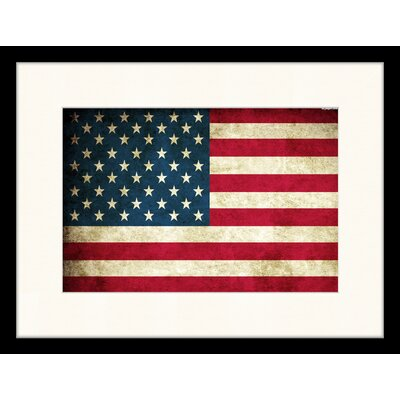 LivCorday US Flag Framed Graphic Art
