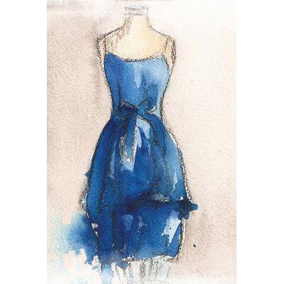 LivCorday Vintage Dress Art Print Wrapped on Canvas