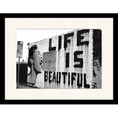 LivCorday Life is Beautiful Framed Photographic Print