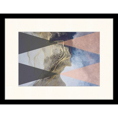 LivCorday Geometric Composition 2 Framed Graphic Art