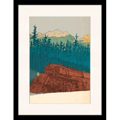 LivCorday Western Railroad Art Illustration Framed Art Print