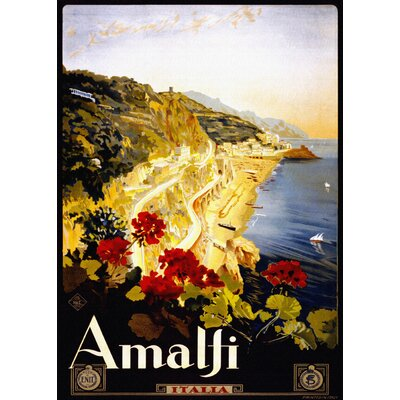 LivCorday Amalfi Travel Vintage Advertisement Wrapped on Canvas
