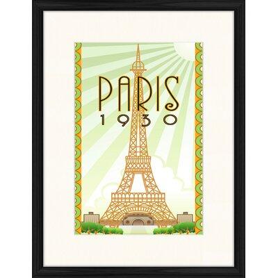 LivCorday 1930's Paris Framed Vintage Advertisement