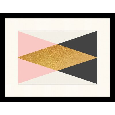 LivCorday Geometric Composition Framed Graphic Art