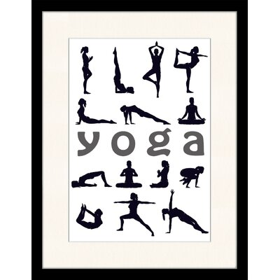 LivCorday Yoga Chart Framed Vintage Advertisement