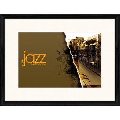 LivCorday Jazz Logo 2 Framed Vintage Advertisement
