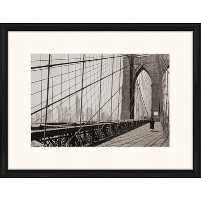 LivCorday Classic Brooklyn Bridge 1 Framed Photographic Print