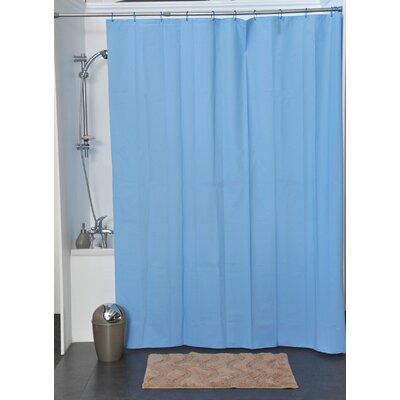 Eva Solid Vinyl Shower Curtain Color: Azure Blue