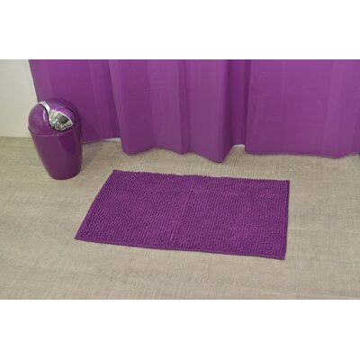 "Soft Luxurious Ball Bath Rug Size: 17"" x 30"", Color: Purple"