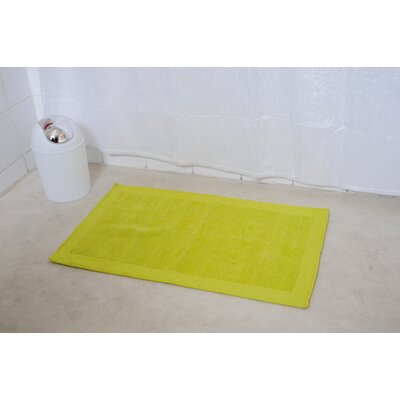 Velvet Border Bath Rug Color: Green