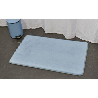 Ultra Soft Highlight Bath Rug Color: Blue