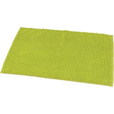 "Soft Luxurious Ball Bath Rug Color: Lime Green, Size: 24"" x 36"""