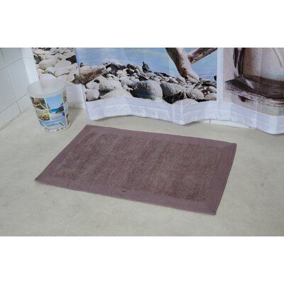 Velvet Border Bath Rug Color: Taupe