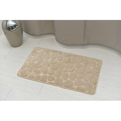 Stone Non Skid Bath Rug Color: Taupe