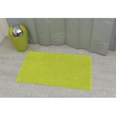 "Soft Luxurious Ball Bath Rug Size: 17"" x 30"", Color: Lime Green"