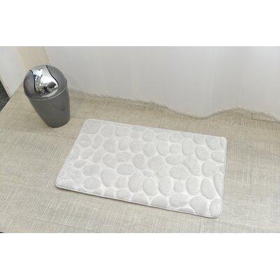 Stone Non Skid Bath Rug Color: White