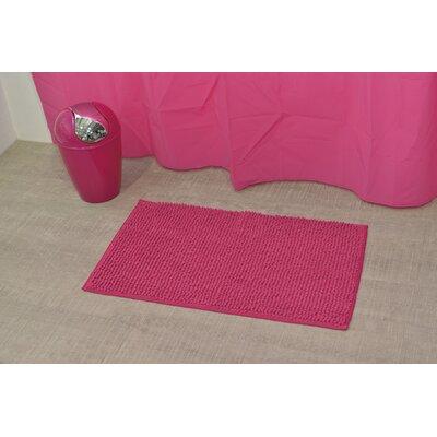 """Soft Luxurious Ball Bath Rug Size: 17"""" x 30"""", Color: Fuchsia"""