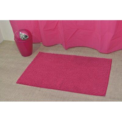 """Soft Luxurious Ball Bath Rug Color: Fuchsia, Size: 24"""" x 36"""""""