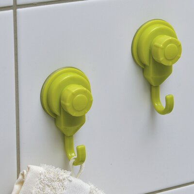 Strong Hold Suction Hook Color: Lime Green
