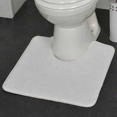 Non Skid Contour Mat Color: White