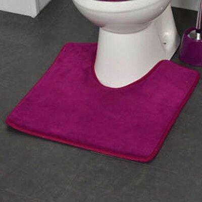 Non Skid Contour Mat Color: Purple