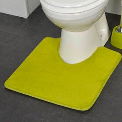 Non Skid Contour Mat Color: Green