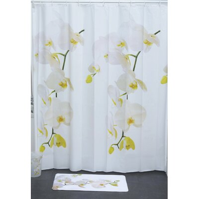 Purity Printed Orchid Shower Curtain