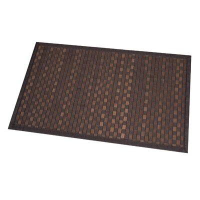 Checkerboard Bath Rug Color: Brown