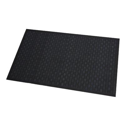 Checkerboard Bath Rug Color: Black