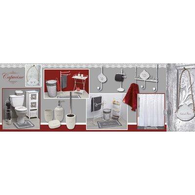 Le Bain Printed Cotton Bath Rug Color: Red