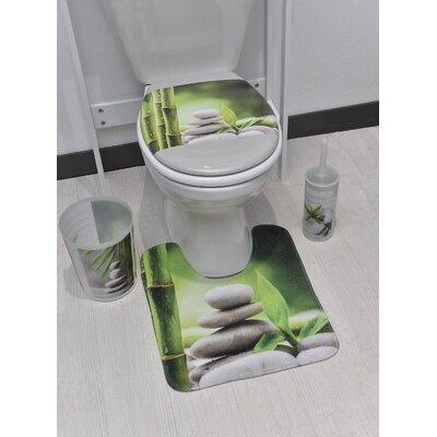 Zen and Co Pedestal Mat Toilet Contour Mat