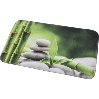 Zen and Co Printed Microfiber Bath Rug