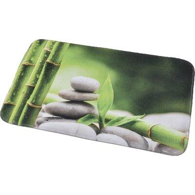 Zen and Co Printed Microfiber Bath Rug