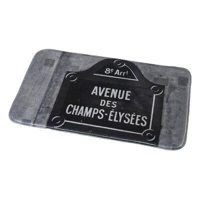 Paris City Printed Microfiber Bath Rug