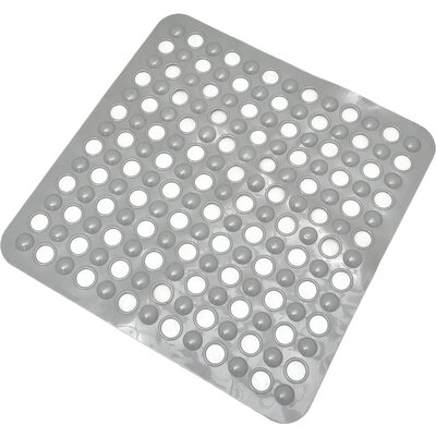 Non Skid Suction Shower Mat Color: Gray