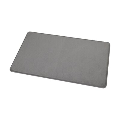 Rectangular Microfiber Bath Rug Color: Taupe