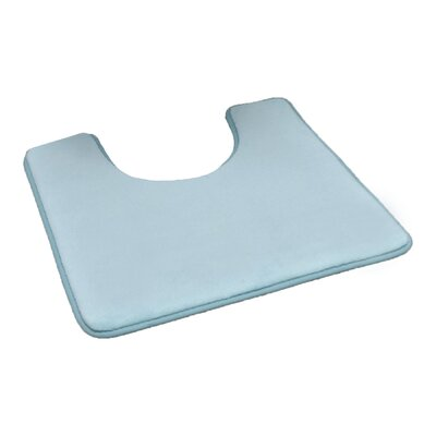 Pedestal Microfiber Toilet Contour Mat Color: Aqua Blue