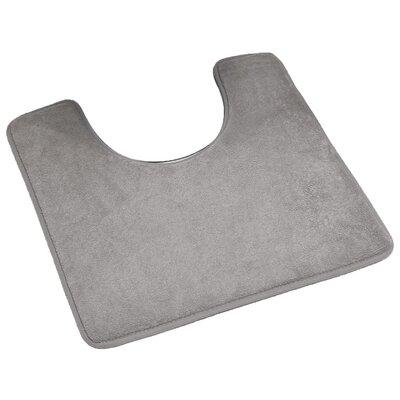 Pedestal Microfiber Toilet Contour Mat Color: Taupe