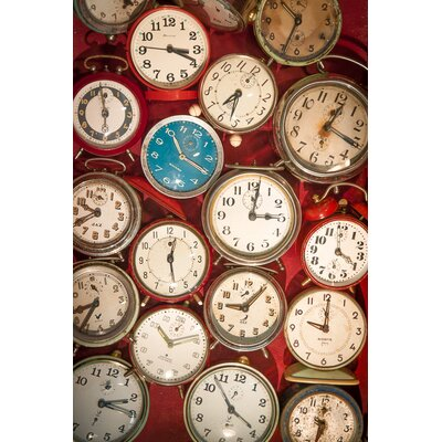 David & David Studio 'Alarm Clocks 1' by Laurence David Photographic Print