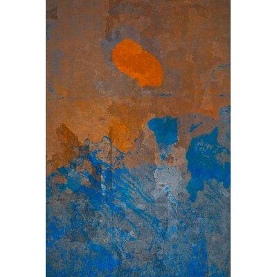 David & David Studio 'Orange and Blue 2' by Laurence David Framed Graphic Art