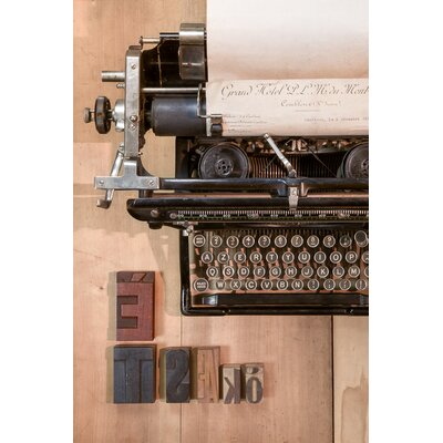 David & David Studio 'Type Writer 1' by Laurence David Framed Photographic Print