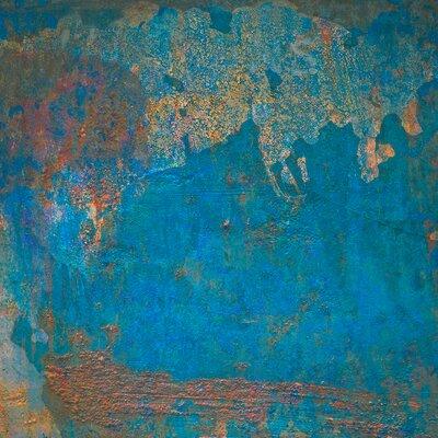 David & David Studio 'Turquoise Hull 1' by Laurence David Framed Graphic Art