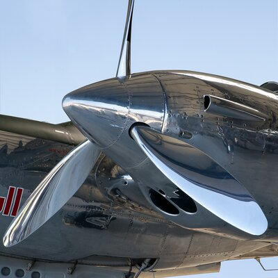 David & David Studio 'Lockheed Lightning P38 3' by Philippe David Framed Photographic Print