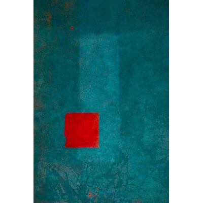David & David Studio 'Red and Turquoise 1' by Laurence David Framed Graphic Art