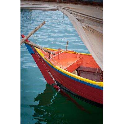 David & David Studio 'Small Boat Color 1' by Laurence David Framed Photographic Print
