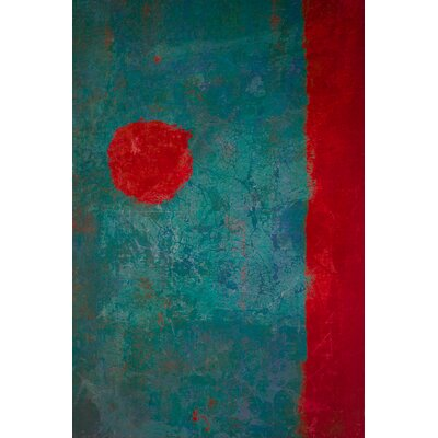 David & David Studio 'Red and Turquoise 2' by Laurence David Framed Graphic Art