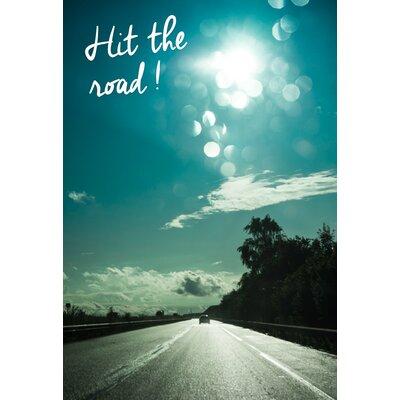 David & David Studio 'Hit The Road' by Flora David Framed Graphic Art