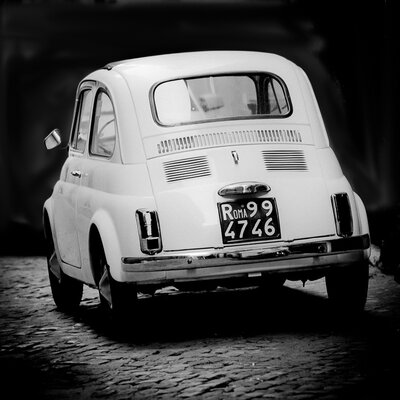 David & David Studio 'Fiat 500 2' by Philippe David Framed Photographic Print