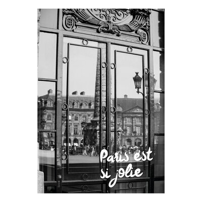 David & David Studio 'Paris Is So Pretty' by Flora David Framed Graphic Art